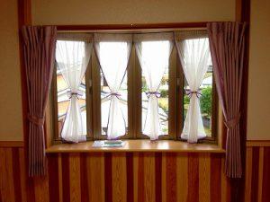 4つに分かれたセパレーツスタイルの出窓
