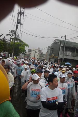 徳島マラソンのランナーたち
