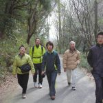 家族での六甲山ハイキングの様子