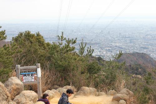 風吹岩から大阪方面の眺め