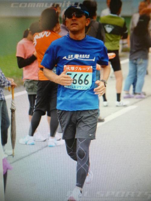 徳島マラソンを走るランナー